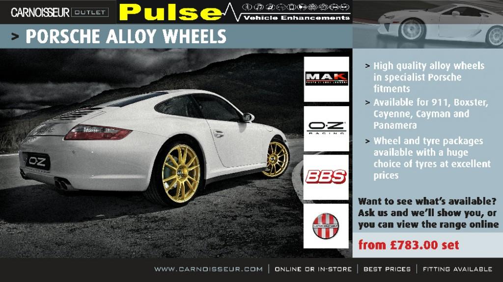 Pulse Carnoisseur Porsche Wheel Offer