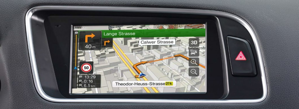 Audi high resolution touch screen