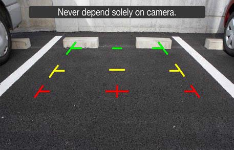 Audi optional rear view camera