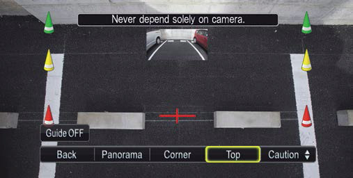 Top view convenient for precise reversing, for example to hook up a trailer